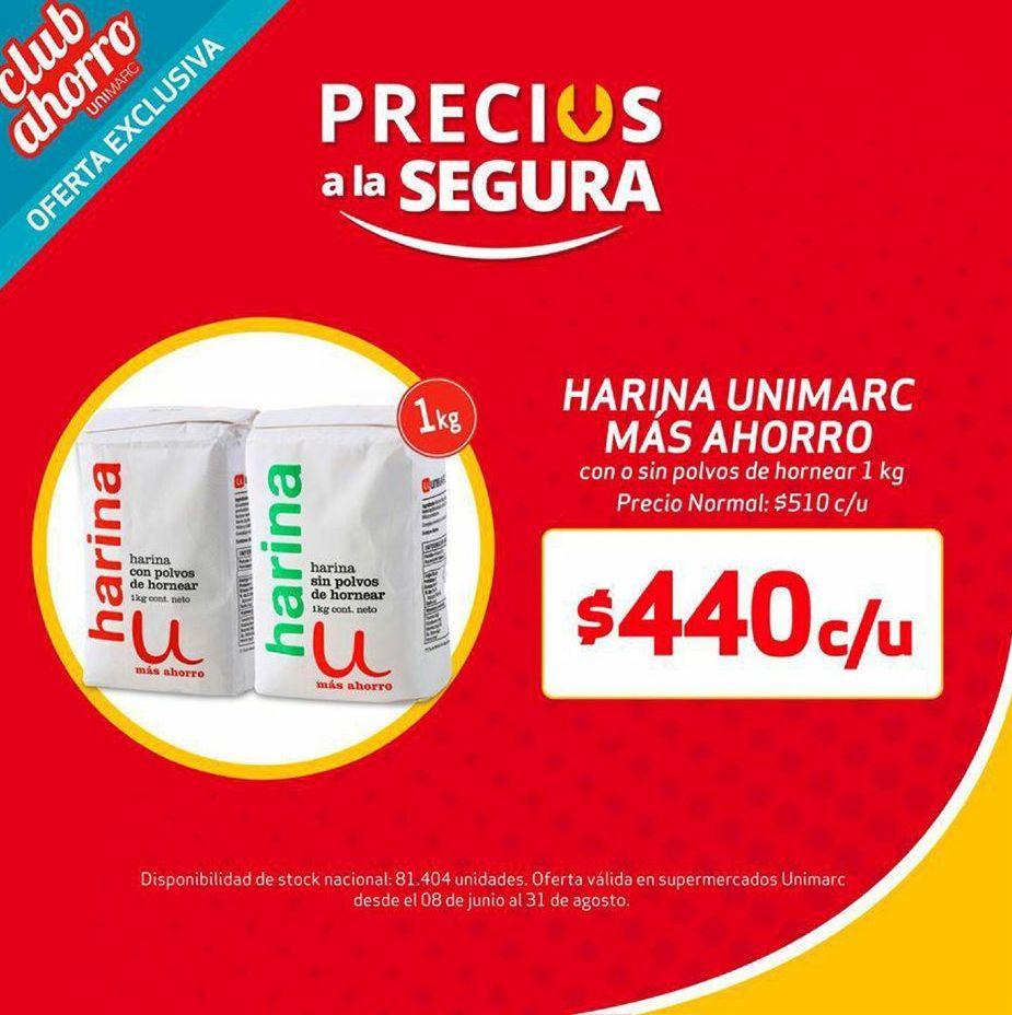 Ofertas de Harina Unimarc por $440