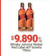 Oferta de Whisky Johnnie Walker por $9890