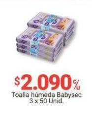Oferta de Toallitas húmedas para bebé Babysec por $2090