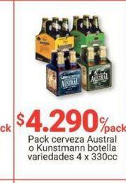 Oferta de Cervezas AUSTRAL por $4290