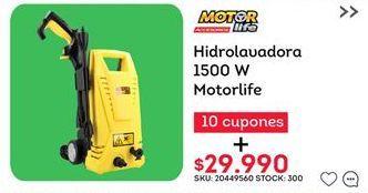 Oferta de Hidrolavadora motor life por $29990