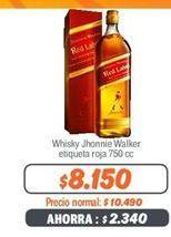 Oferta de Whisky Johnnie Walker por $8150