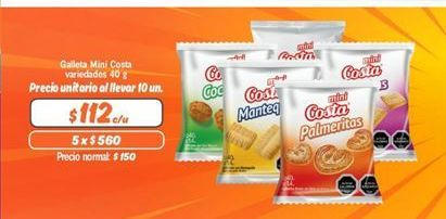 Oferta de Galletas Costa por $112