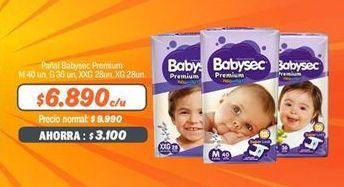 Oferta de Pañales Babysec por $6890