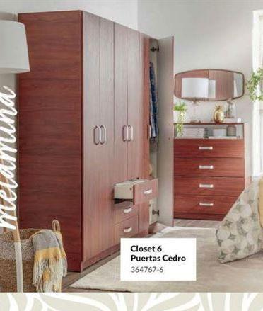 Oferta de Closets 6 puertas cedro por