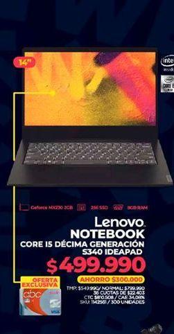 Oferta de Notebook Lenovo por $499990