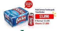 Oferta de Cervezas Becker por $3890