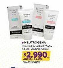 Oferta de Crema facial Neutrógena por $2990