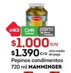 Oferta de Pepinos Mamminger por $1000