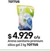 Oferta de Arena para gatos Tottus por $4929