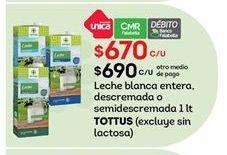 Oferta de Leche Tottus por $670