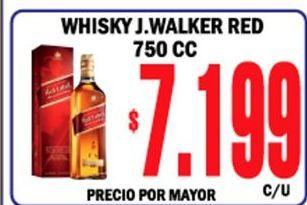 Oferta de Whisky Johnnie Walker por $7199