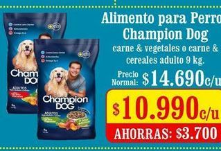 Oferta de Comida para perros Champion Dog por $10990