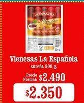 Oferta de Vienesas La Española por $2350