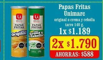 Oferta de Papas fritas congeladas Unimarc por $1790