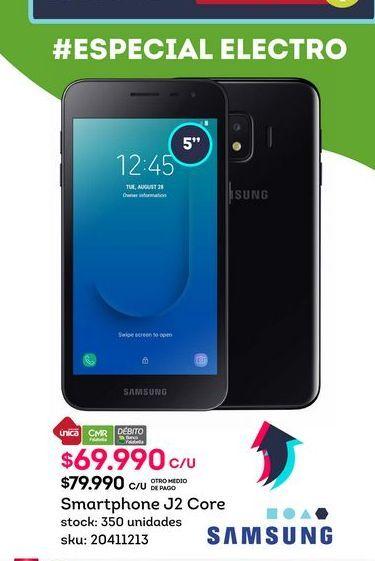 Oferta de Celulares Samsung J2 Core por $69990