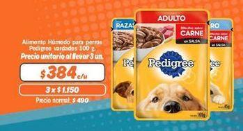 Oferta de Comida para perros Pedigree por $384