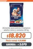 Oferta de Comida para perros Champion Dog por $18820