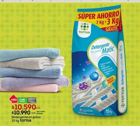 Oferta de Detergente Tottus por $10590