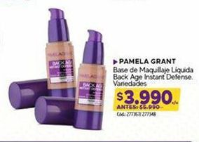 Oferta de Base de maquillaje Pamela Grant por $3990