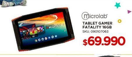 Oferta de Tablet Microlab por $69990
