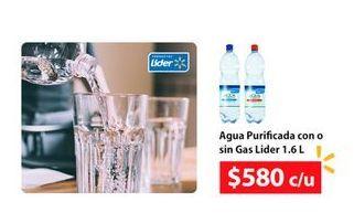Ofertas de Agua Purificada con o sin gas Lider por $580