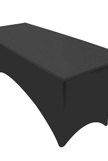 Oferta de Mantel Rectangular Elasticado Mesa Plegable Negro por $10,99