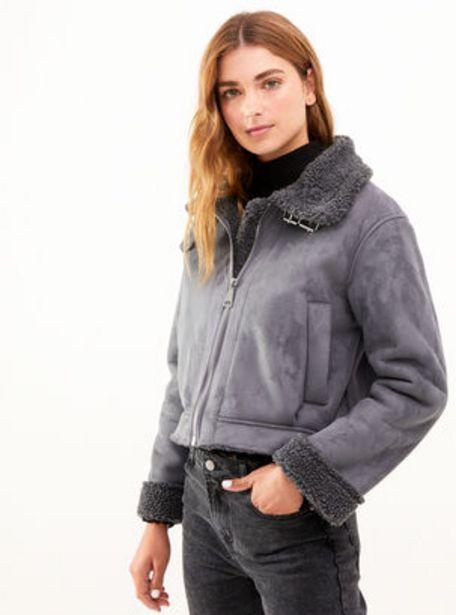 Oferta de Chaqueta Forrada Faux Fur Cordero Opposite por $14990
