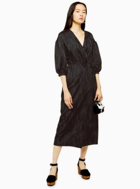 Oferta de Vestido Black Oversized Wrap Topshop por $23990