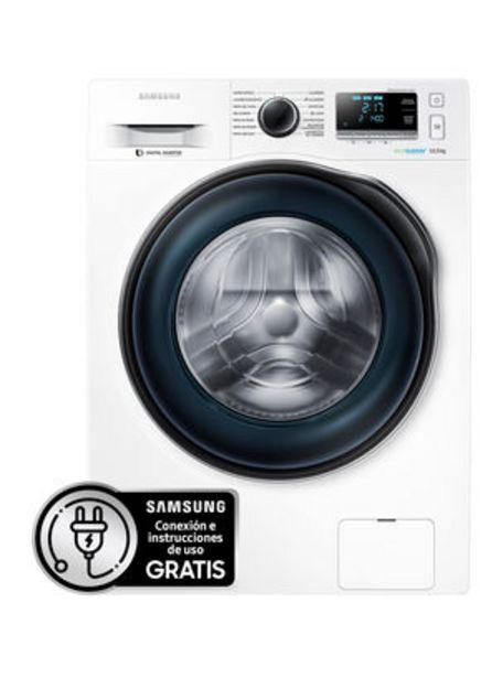 Oferta de Lavadora Samsung Frontal 10.5 Kg WW10J6410CW1ZS por $359990
