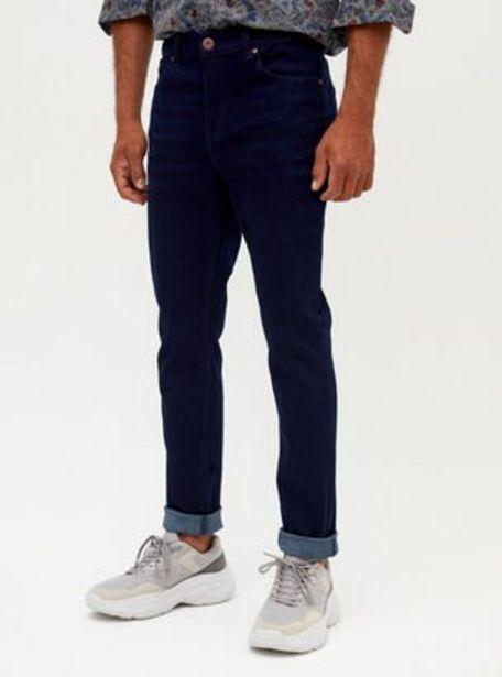 Oferta de Jeans Azul Oscuro Raw Skinny Fit Alaniz por $8990