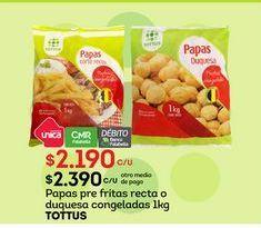 Oferta de Papas fritas congeladas Tottus por $2190