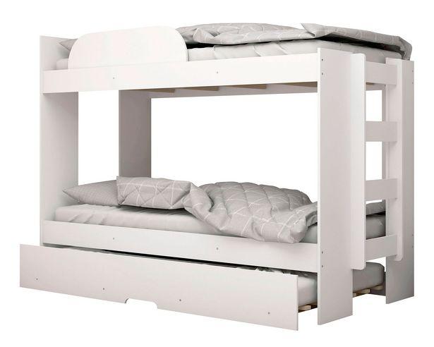 Ofertas de Camarote + cama auxiliar blanco M+Design                                                                                         por $119990