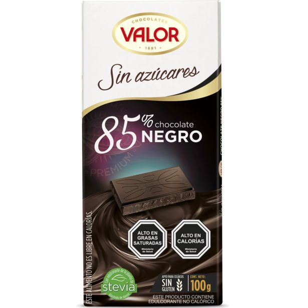 Oferta de Chocolate sin azúcar 85% cacao 100 g por $2099