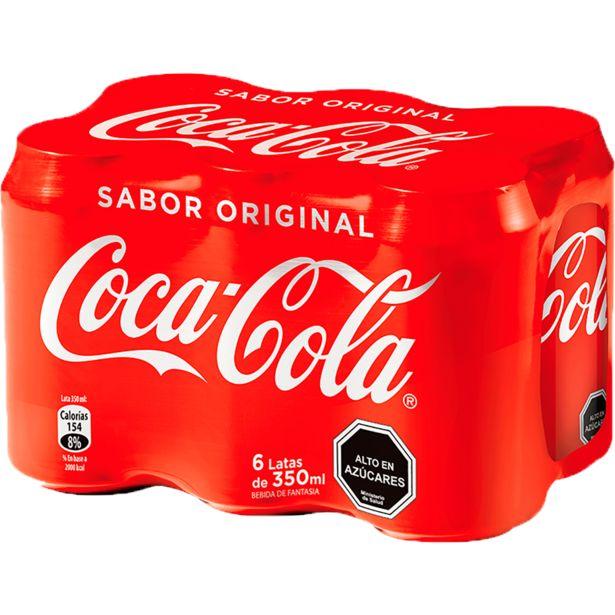 Oferta de Pack Bebida Coca Cola 6 Unid, 350 cc c/u por $3190