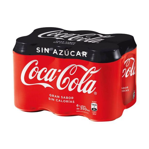 Oferta de Pack Bebida Coca Cola Zero 6 Unid, 350 cc c/u por $3190