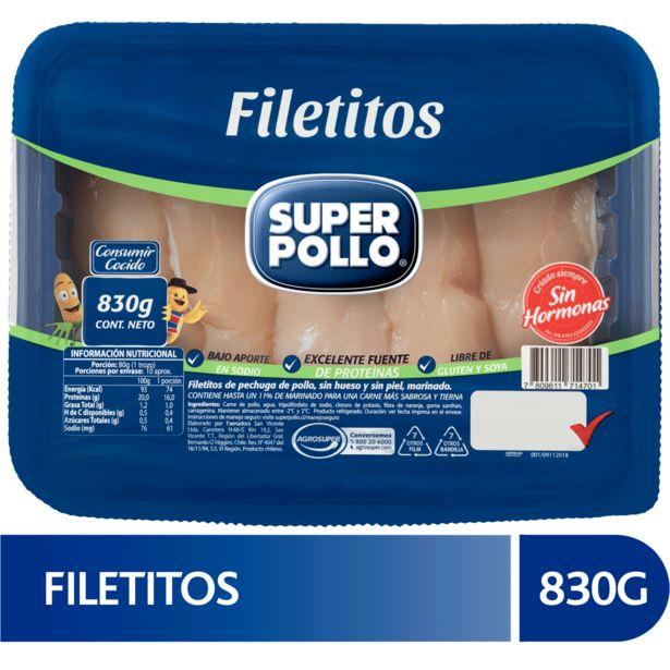 Oferta de Filetitos de pollo Super Pollo 830 g por $2990