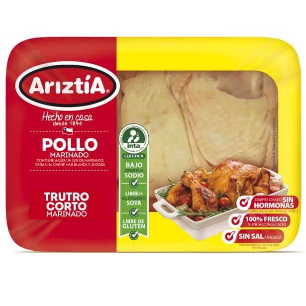 Oferta de Trutro corto de pollo Ariztía envasado 1.1 kg por $2590