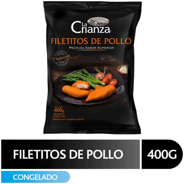 Oferta de Filetitos pechuga de pollo apanados La Crianza  400 g por $2869