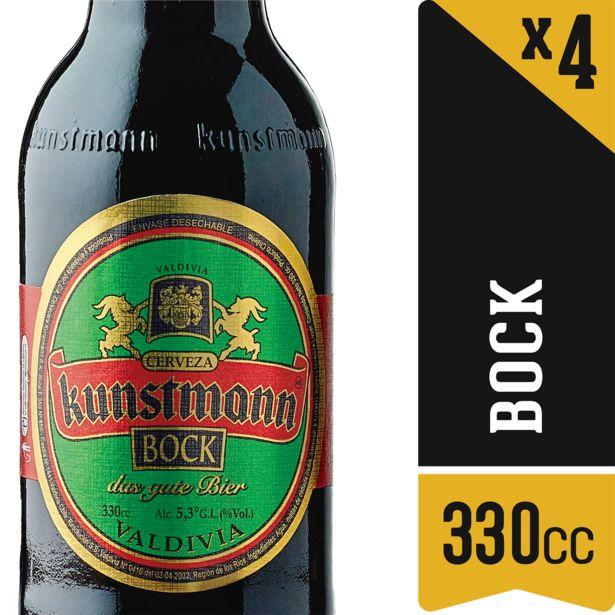 Oferta de Pack cerveza negra botella 4 un. 330 cc c/u por $4490