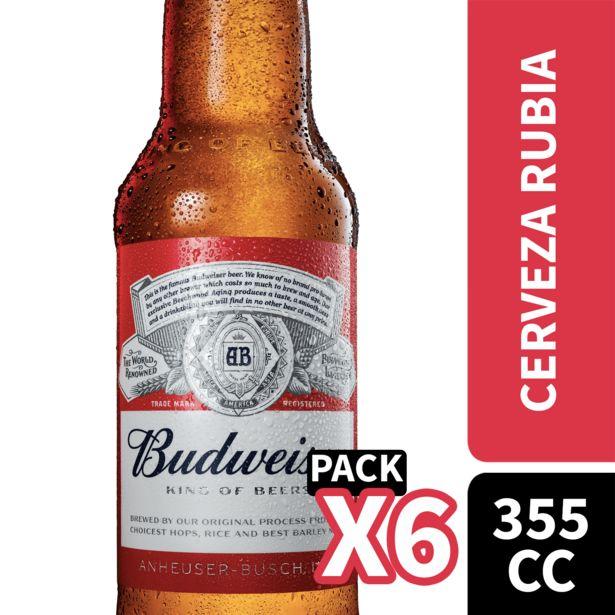 Oferta de Pack cerveza botella 6 un. 355 cc c/u por $3190