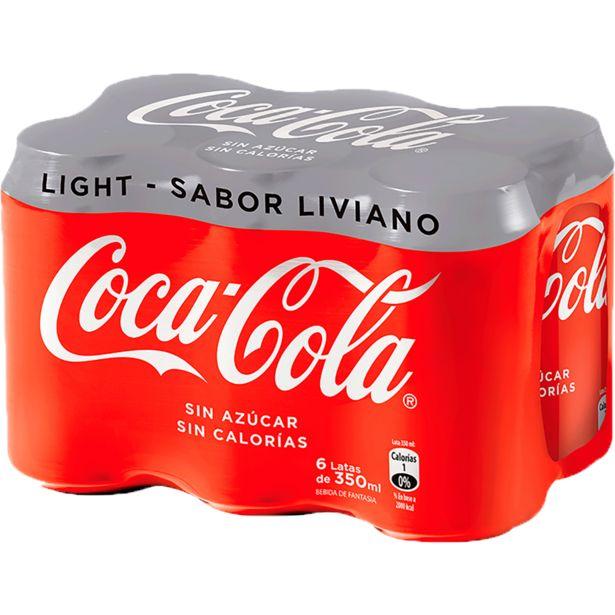 Oferta de Pack Bebida Coca Cola Light, 6 Unid 350cc c/u por $3190