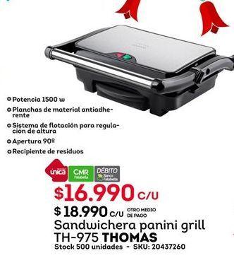 Oferta de Sandwichera Thomas por $16990