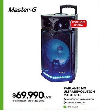 Oferta de Parlantes Master-G por $69990