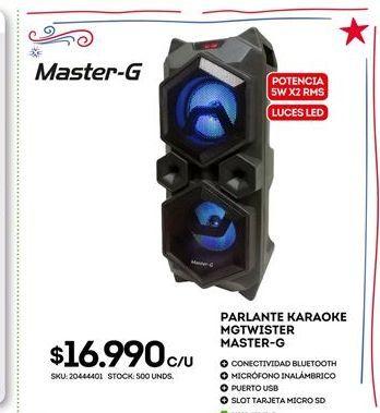 Oferta de Parlantes Master-G por $16990