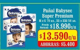 Oferta de Pañales Babysec por $13590