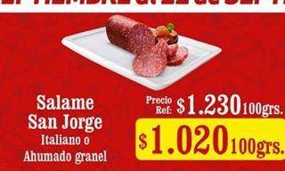 Oferta de Salame San Jorge por $1020