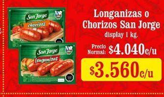 Oferta de Longaniza San Jorge por $3560