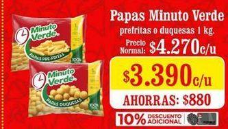 Oferta de Papas Minuto Verde por $3390