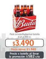 Oferta de Cervezas Budweiser por $3490